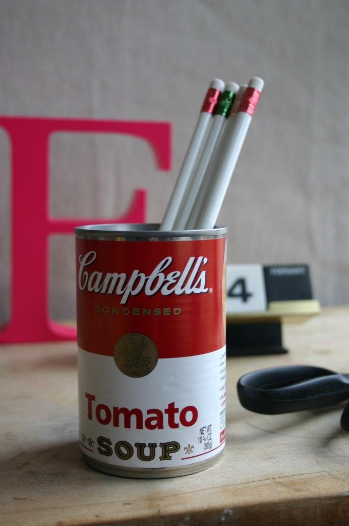 andy warhol inspired pencil holder