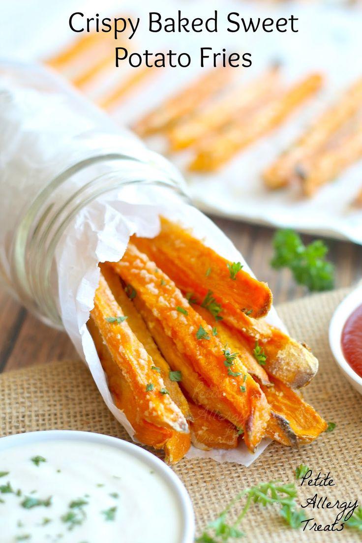 BEST Crispy Baked Sweet Potato Fries PetiteAllergyTreats BEST baked sweet potato fries #sweetpotato, #baked #healthy