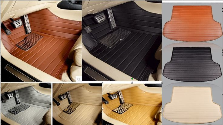 cars waterproof XPE material non slip full surrounded car floor mats+trunk mats for Citroen DS6
