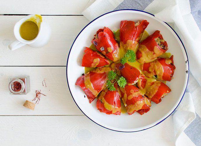 Piquillos rellenos de bacalao para #Mycook http://www.mycook.es/cocina/receta/piquillos-rellenos-de-bacalao