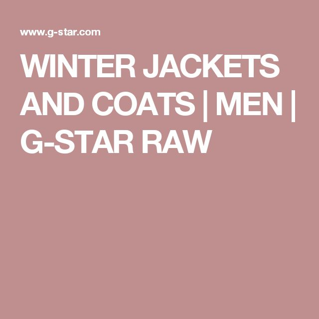 WINTER JACKETS AND COATS | MEN | G-STAR RAW