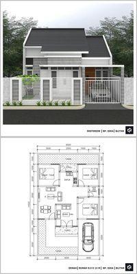 10 denah rumah minimalis 3 kamar tidur 1 lantai 2020