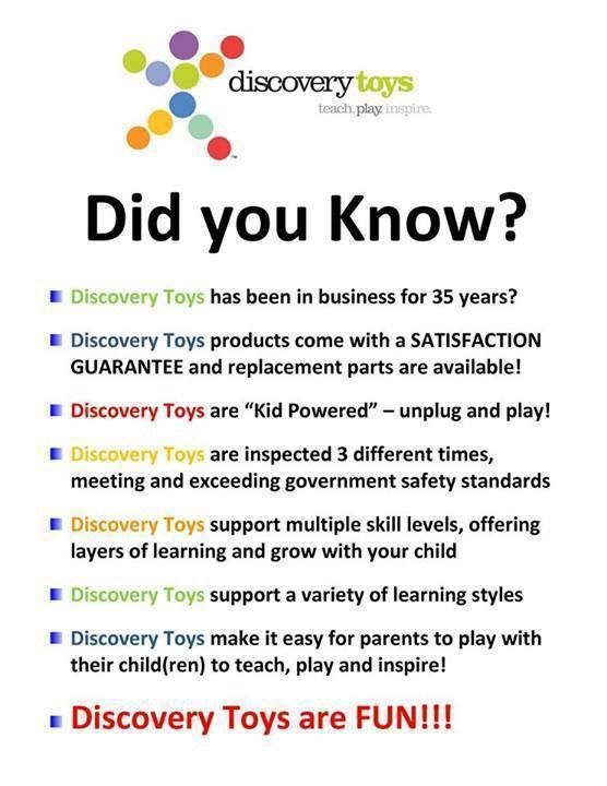 POST TWO: Ok! Now that the housekeeping is behind us, let's get on with the REAL reason you came tonight...these INCREDIBLE toys! Here is a little bit about Discovery Toys in case you are not familiar with this great company. Comment and let us know if you are familiar with Discovery Toys or if we are totally new to you and your children.