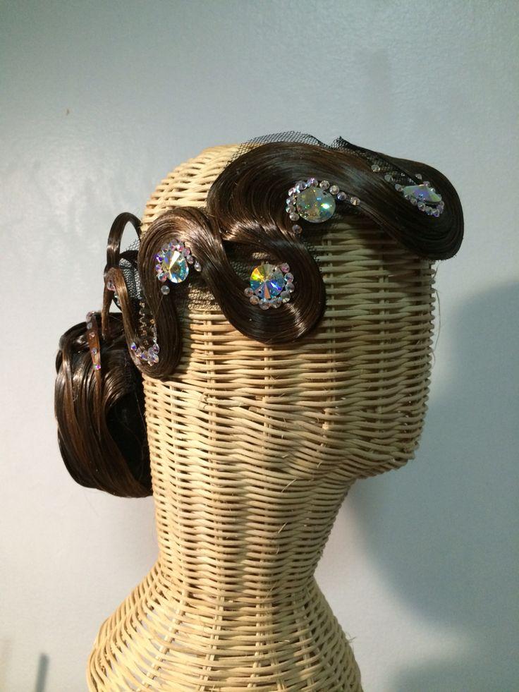 Hair piece for dancesport By Pakaorn Kuituan ( Best Design Dancewear )