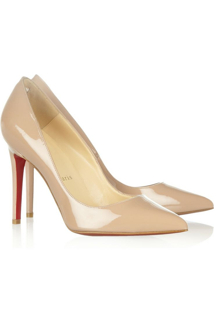 Christian LouboutinPigalle 100 patent-leather pumpsfor the evenings, or when flip flops just won't do #holtspintowin