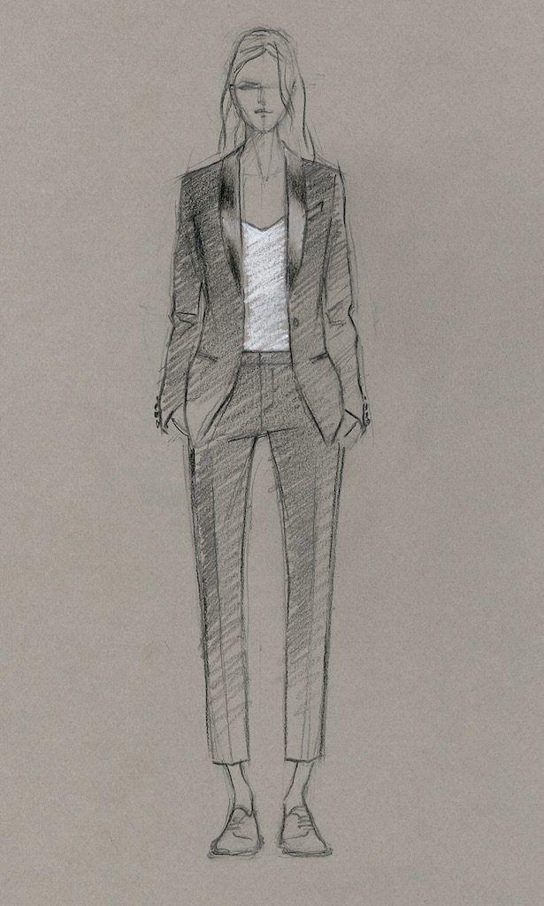 f7e8989ba1b For the Girl Who Doesn't Want a Dress: Wedding Tuxedos by The Black Tux |  Doll Inspiration | Tuxedo wedding, Formal wear women, Dress sketches