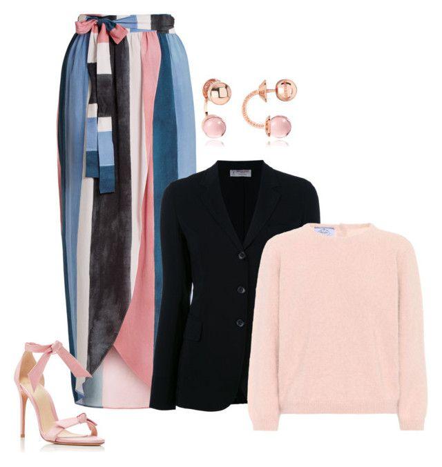 """Pastel sweaters"" by exoduss ❤ liked on Polyvore featuring Mara Hoffman, Alexandre Birman, Rebecca, Alberto Biani, Prada, contestentry and pastelsweaters"