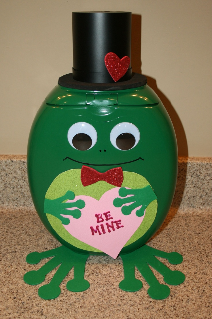 5th grade Valentine's box project.... we created him from a Tide Pods container.... thought he was too cute not to share!!!