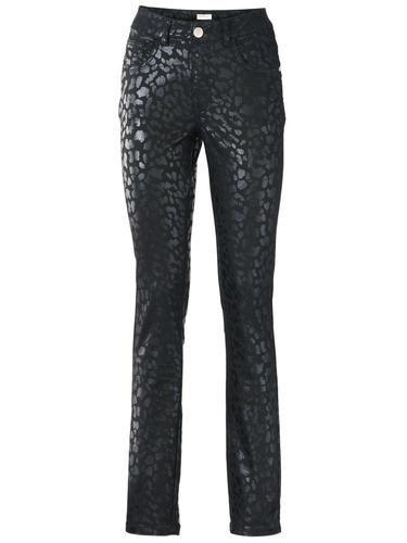 #Ashley #Brooke #By #Heine #Damen #Bodyform #Push #up #Jeans #grün / #schwarz 5-Pocket-Röhre mit Push-up-Effekt. Power-Mesh-Einsatz mit Bauch-weg-Funktion. Edler Glanz. Modischer Allrounder. Toniger Animalprint. NorHerren Leibhöhe Schrittlänge ca 77 cm.