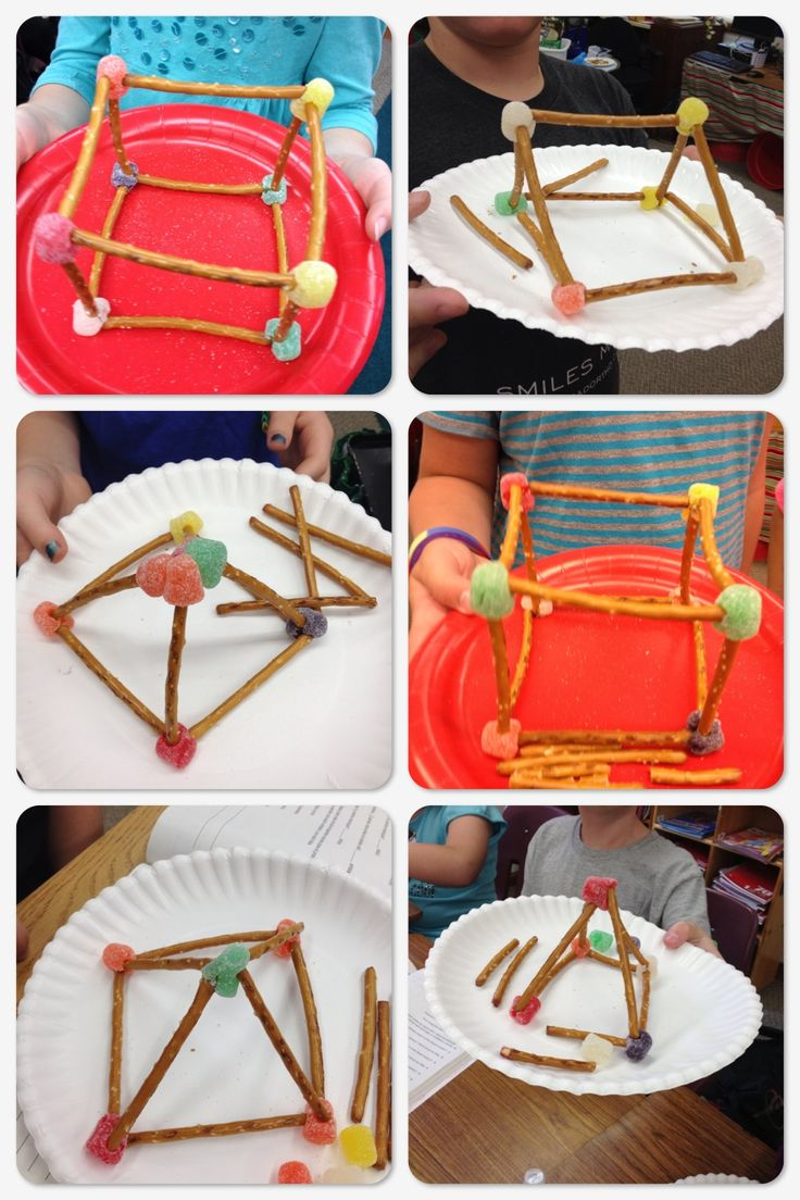 Pretzels and Gumdrops 3D Geometry Shapes Snack Fun! We had so much fun with this today! I found this idea on Pinterest, but I'm not sure who to credit it to. Let me know if it's you!