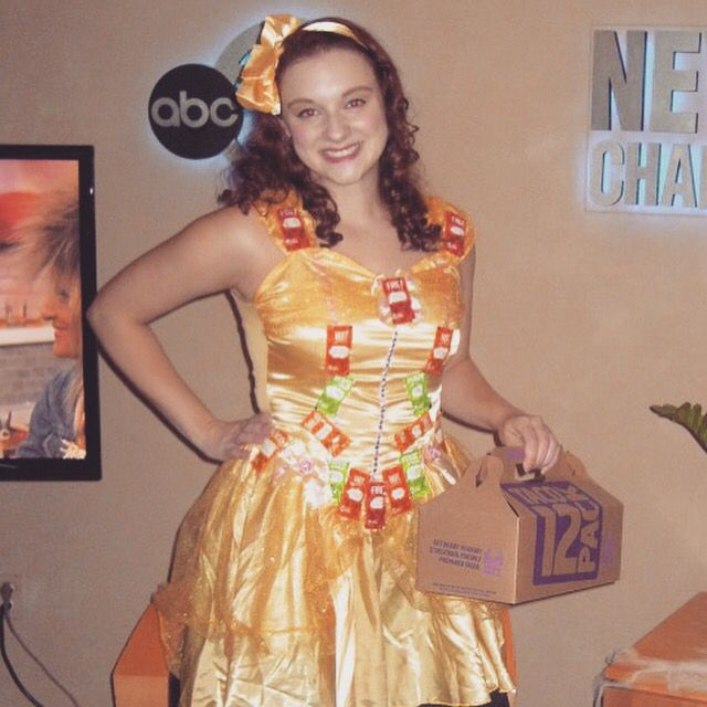 Taco Belle DIY Halloween Costume. Hot glued sauce packets to Belle costume and carried a Taco Bell taco box. Loved this idea! Had fun wearing it!