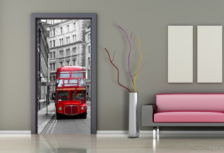 London double decker bus photo mural. See more at agdesignshop.cz