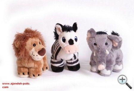 Átalakítható elefánt, oroszlán, zebra plüss gyermek ajándékok.