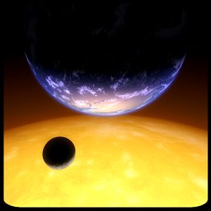 ANDROID: Titans of Space gives a short guided tour of our planets and a couple of stars. You can purchase a 50 minute narration, but the app itself is free.
