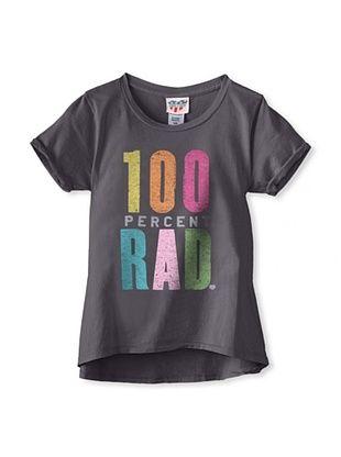 34% OFF Junk Food Girl's 7-16 100 Percent Rad Tee (Charcoal)