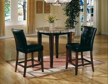 Montibello Pub Dining Room Contemporary Styling Table Apron And Legs In Solid Wood With Cherry