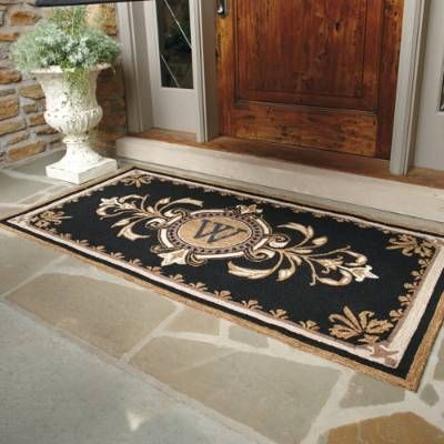 Huntington Monogrammed Entry Mat - Frontgate