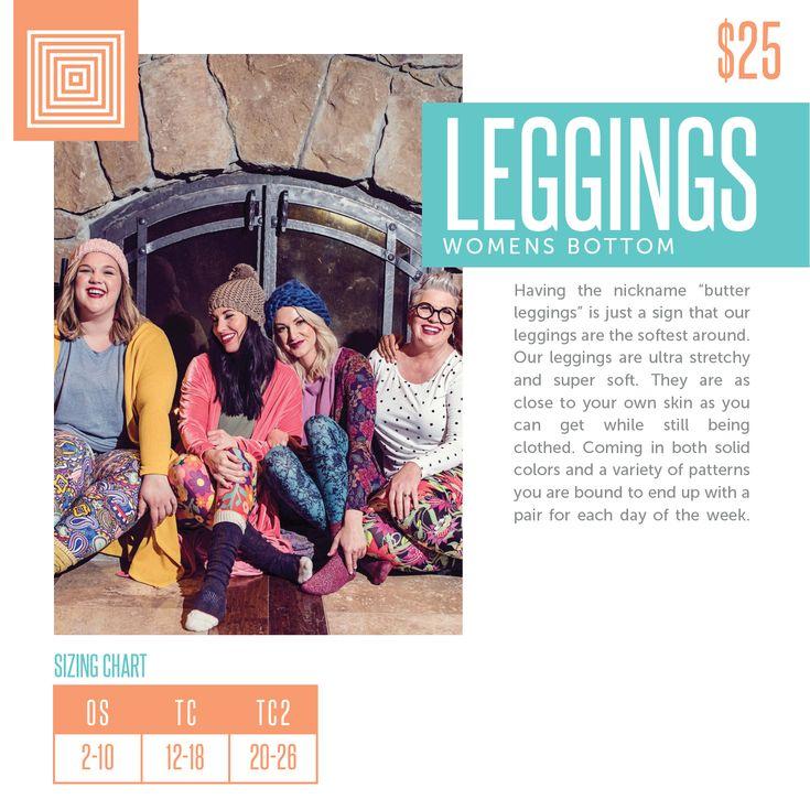 LuLaRoe Leggings Sizing Chart 2018
