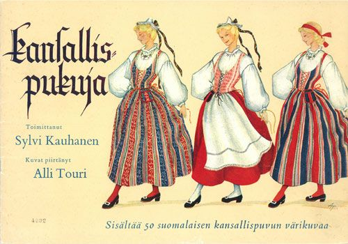 Finland. Traditional costumes.