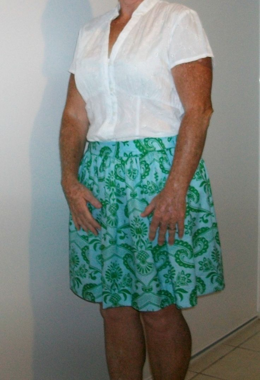 'flat front skirt'