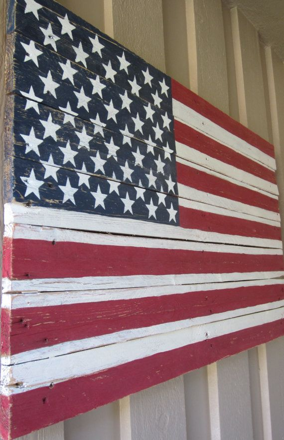 American flag pallet sign by msdssigns on etsy wedding ideas pinterest american - American flag pallet art ...