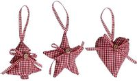 Christmas Gingham Decoration Set - Shabby Chic Furniture & Shabby Chic Accessories from denbeehomesandinteriors.co.uk