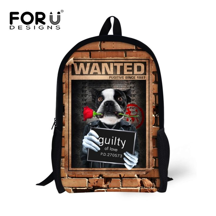 FORUDESIGNS New Popular Cool Stylish School Bags Children Printing Cute Carton Animal Schoolbag For Boys And Girls Children