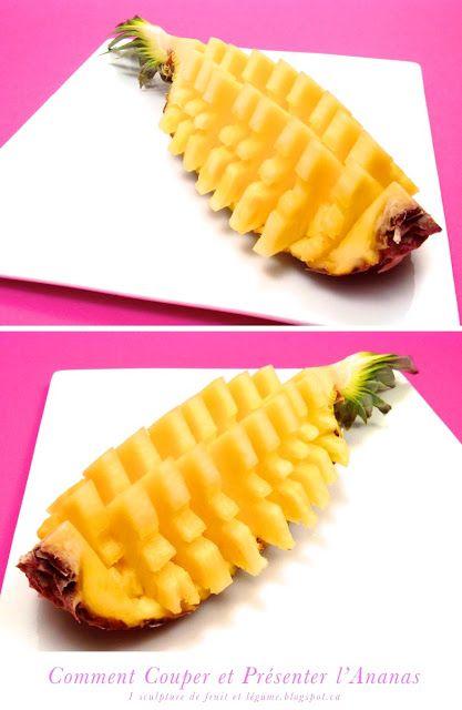 Bonjour, aujourd'hui je vous invite à découvrir comment couper de présenter un ananas de belle façon.          Pour la version HD, déma...