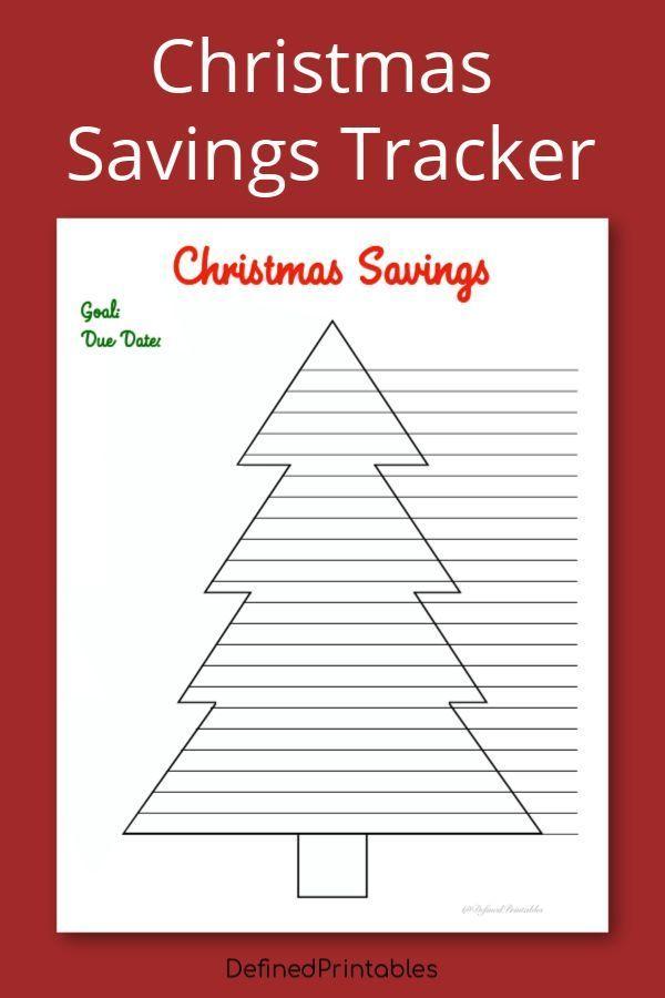 christmas savings tracker printable savings tracker xmas budget