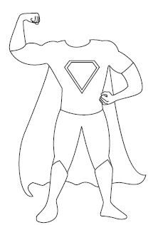 Printable superhero bodies — put kids picture with it and let them color their costume!