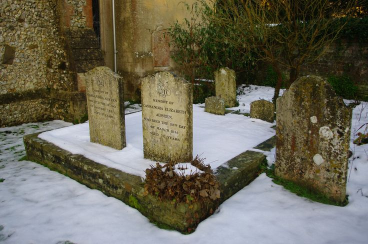 Grave stones of Jane Austen's mother, Cassandra, and her sister, Cassandra. Image by Tony Grant.