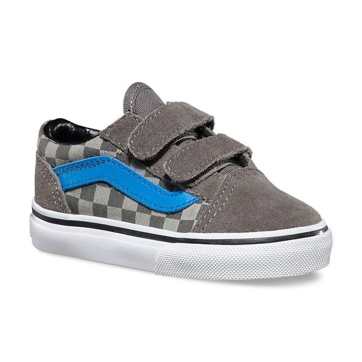 Vans Old Skool V Toddler Shoes - (Checkerboard) Pewter   Vans Shoes   Vans Trainers   Cheap Vans Authentic   Vans Skate Shoes   Cheap Skate Shoes For Sale   Skatehut