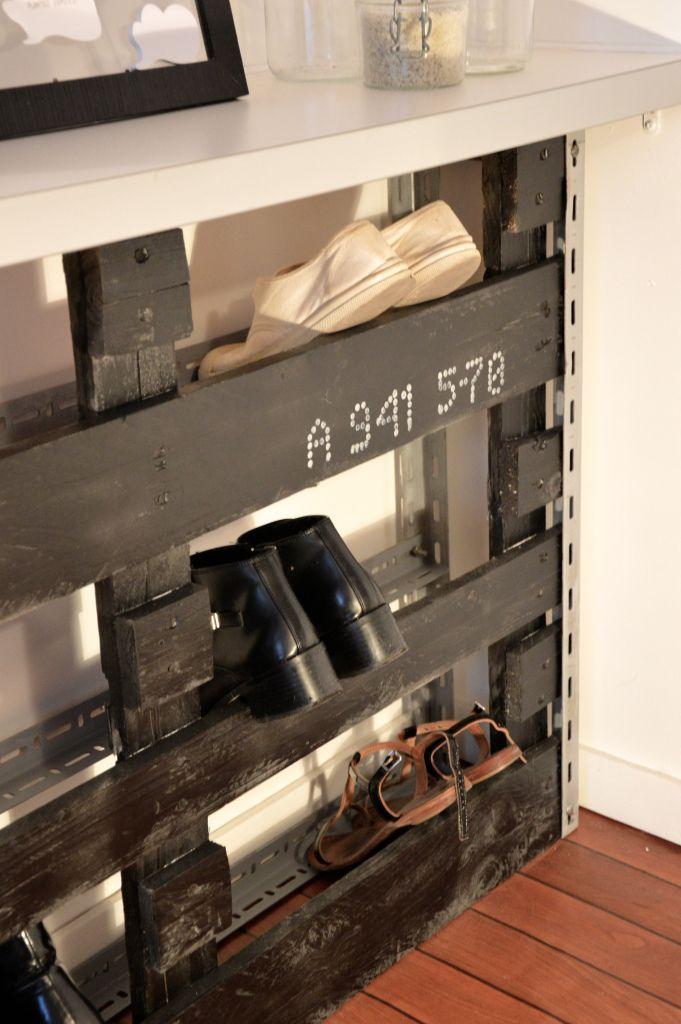 Mon Range Chaussures En Palette Rangement Chaussures Meuble Chaussures Palette Et Meuble Chaussure