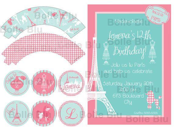 Parigi Festa Classico Shabby Chic Fai da Te Kit di BolleBluParty, €20.00