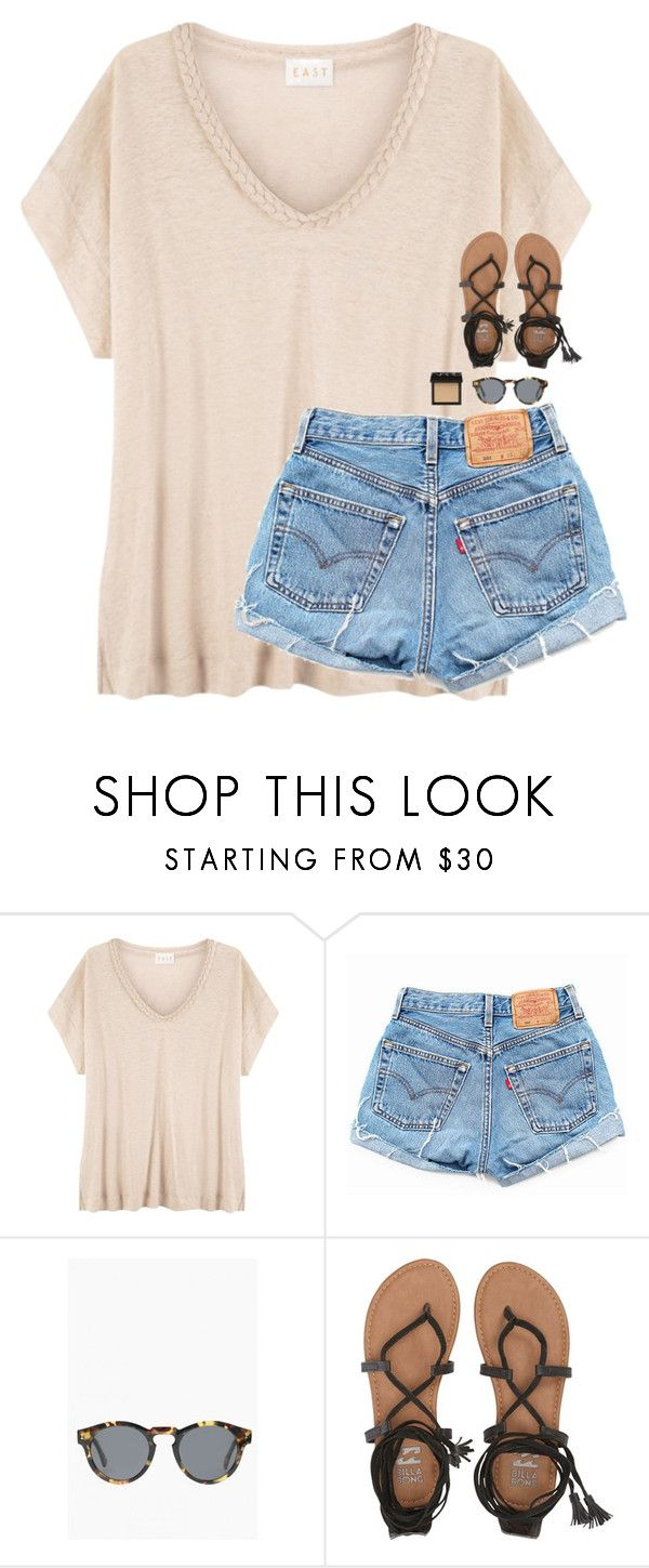 """""""vacation haul! -will update"""" by classynsouthern ❤ liked on Polyvore featuring EAST, Levi's, Illesteva, Billabong and NARS Cosmetics"""