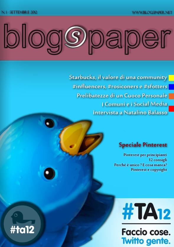 Numero 1 di BlogsPaper – Settembre 2012