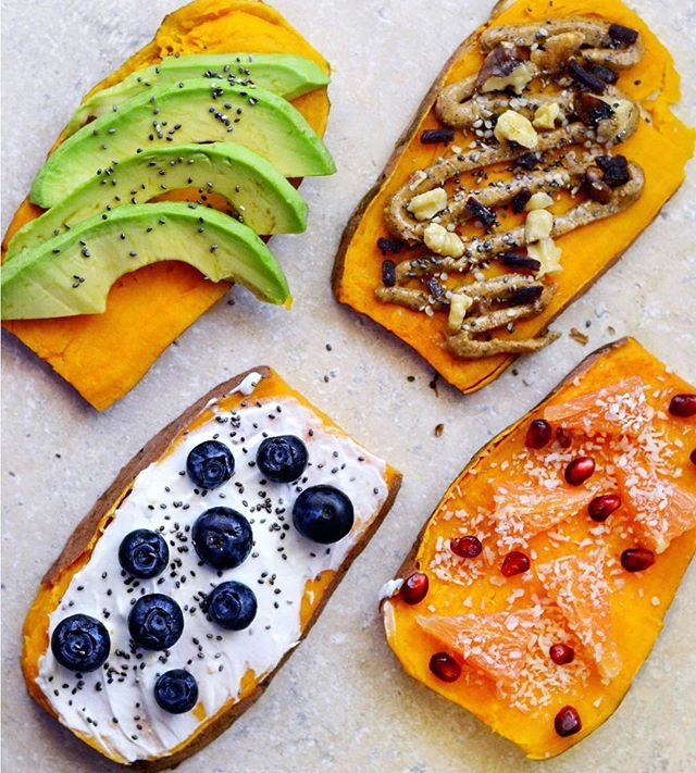 Sweet potato toast craze! Thinly slice a sweet potato and pop it in the toaster a few times until it's toasted and brown. Then top with avocados, almond butter, yogurt, fruit, and/or nuts. The possibilities are endless! Graze snacks are a perfect topper. Visit graze.com for more.