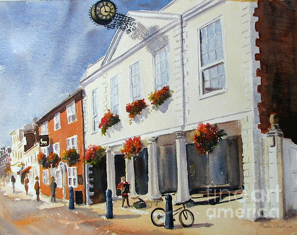 Hythe town hall, watercolour