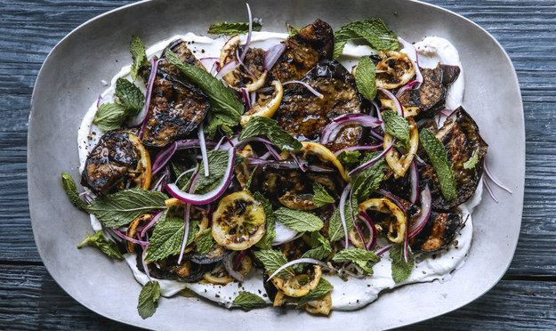 Grilled Eggplant and Lemons with Garlic Labneh | 31 Delicious Things You Need To Cook In August
