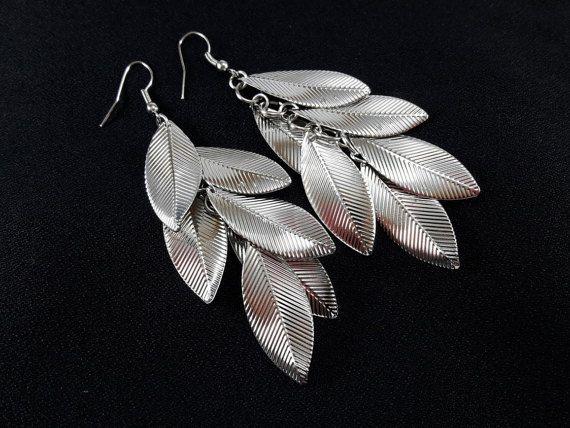 Leaf EarringsBoho JewelryGypsy JewelryBridesmaid by LaLannaThai
