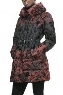 Desigual žíhaný zimní kabát Navarra
