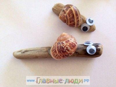 Детские поделки из ракушек, поделки из ракушек для детей (10)