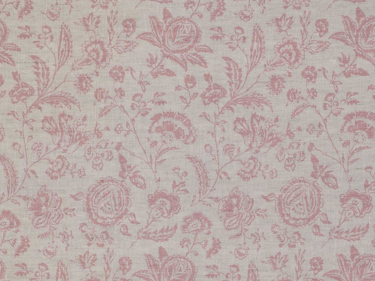 Cabbages & Roses Provence Toile Pink Fabric