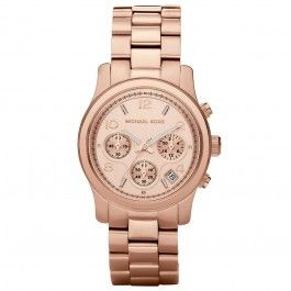 Michael Kors Rose Gold Plated Chronograph Dial Rose Gold Plated Bracelet Watch MK5128