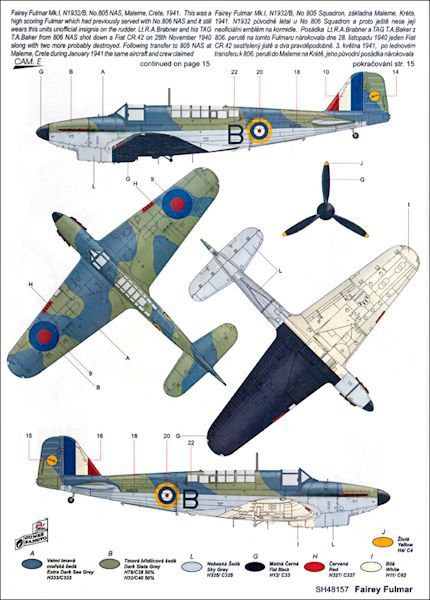 """Fairey Fulmar Mk.I/II """"Over the Mediterranean and the Indian Ocean"""" - special hobby - 1/48"""