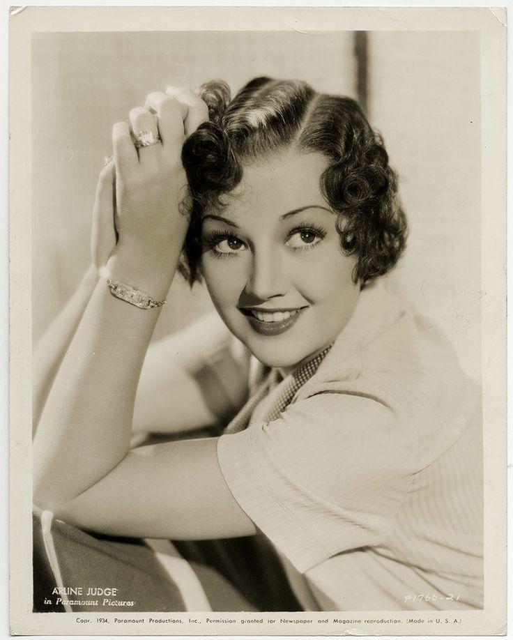 Pretty Brunette B-Movie Actress Arline Judge Vintage 1934 Art Deco Photograph