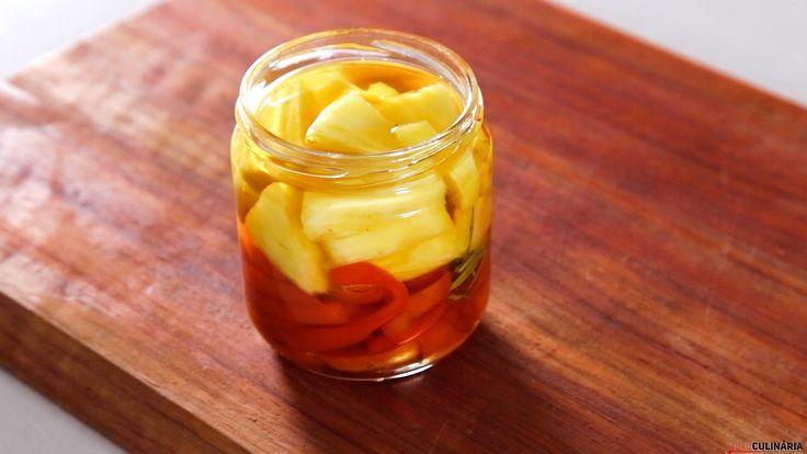 Receita de Conserva de ananás e pimento vermelho. Descubra como cozinhar Conserva de ananás e pimento vermelho de maneira prática e deliciosa!