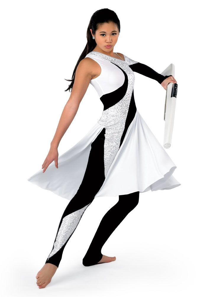 G268 - Spiral  our colorguard uniform for this year, really comfy and looks cool with twirling!!(:
