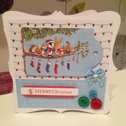 """Набор бумаги 21х29 см """"Лесное Рождество"""" с высечками, 26 листов (DoCrafts)"""