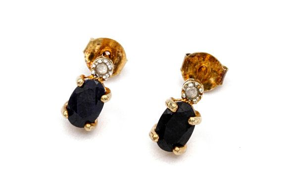 b521d1ac719bb Sapphire Gold Studs, Small Stud Earrings, Victoria Townsend Jewelry ...